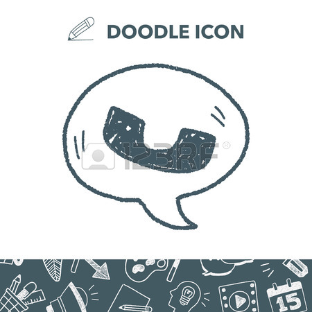 450x450 Cell Phone Message Doodle Drawing Royalty Free Cliparts, Vectors