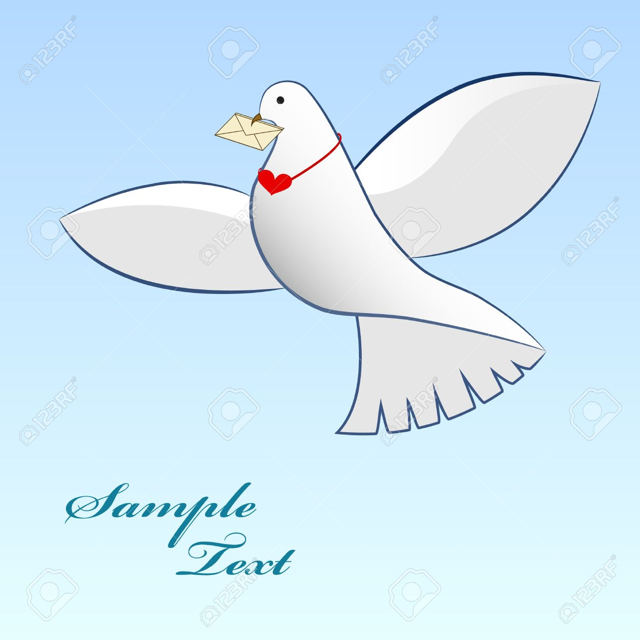 1300x1300 Drawing Of Dove Carrying Love Message Royalty Free Cliparts