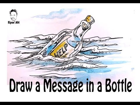 480x360 How To Draw A Message In A Bottle