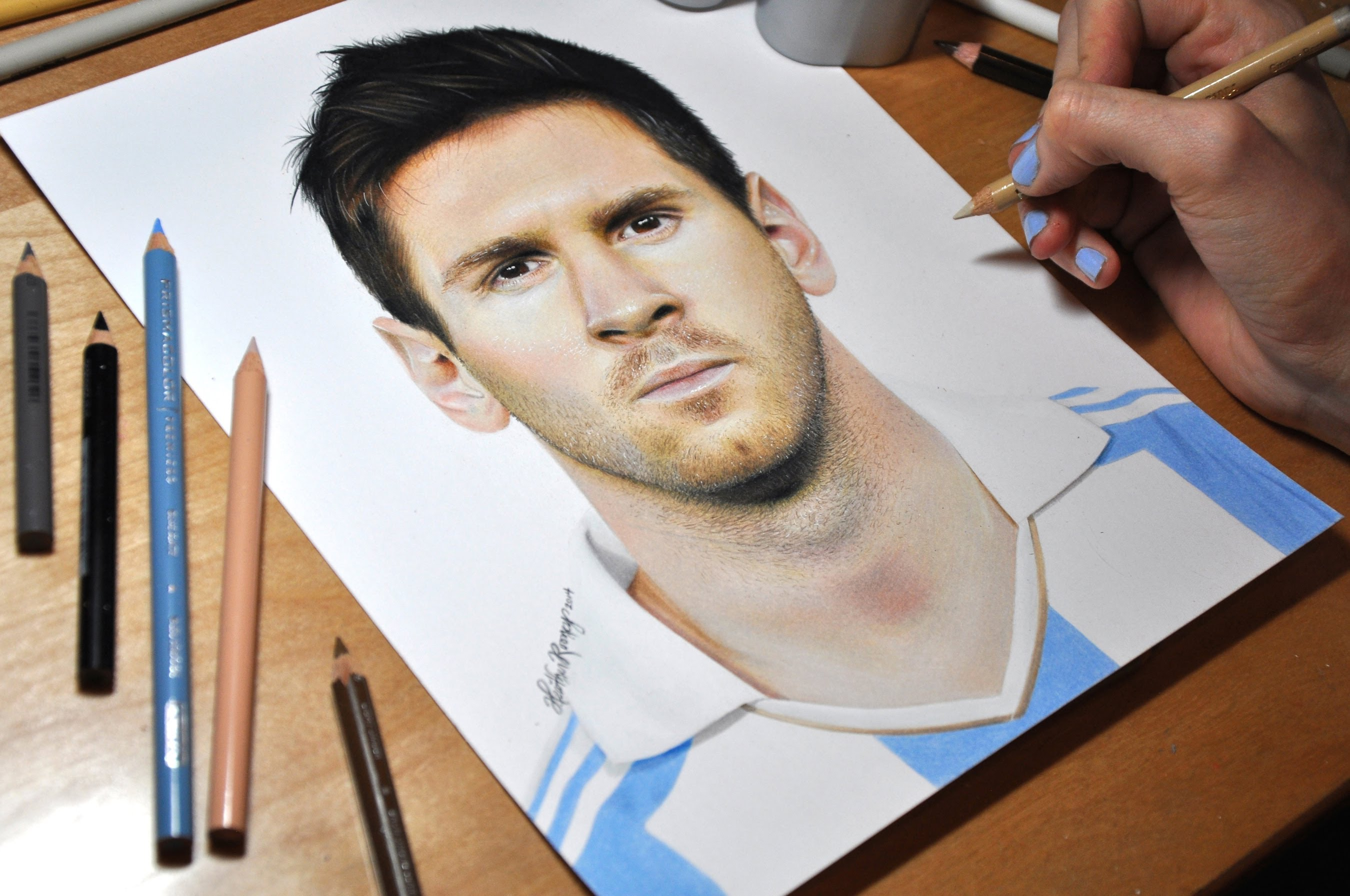 2700x1793 Drawing Lionel Messi