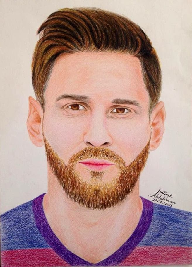 656x911 Drawing Lionel Messi 2016 ,