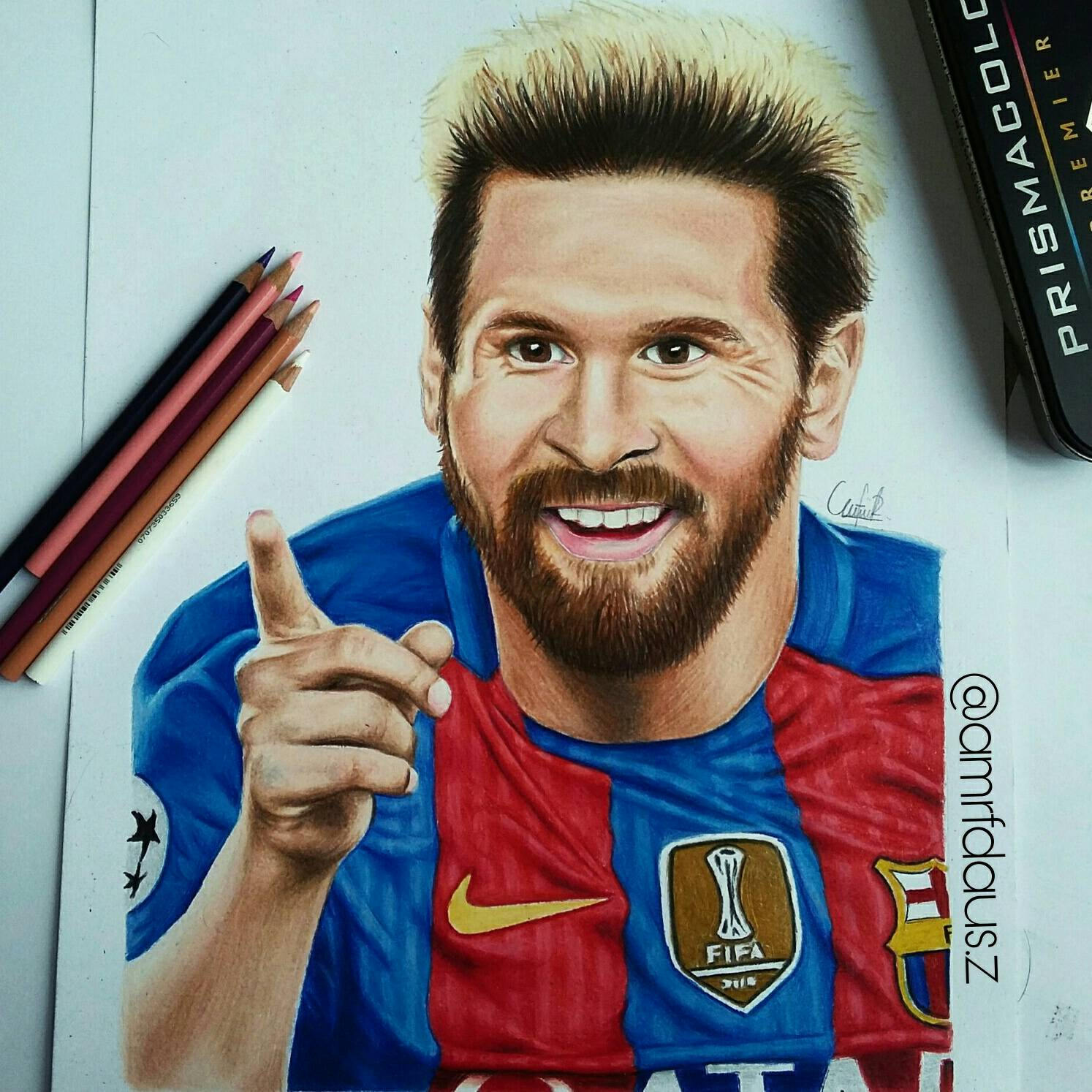 1494x1494 Drawing Of Lionel Messi