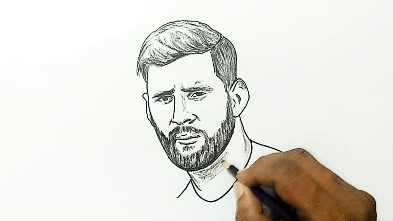 1280x720 How To Draw Lionel Messi With A Beard