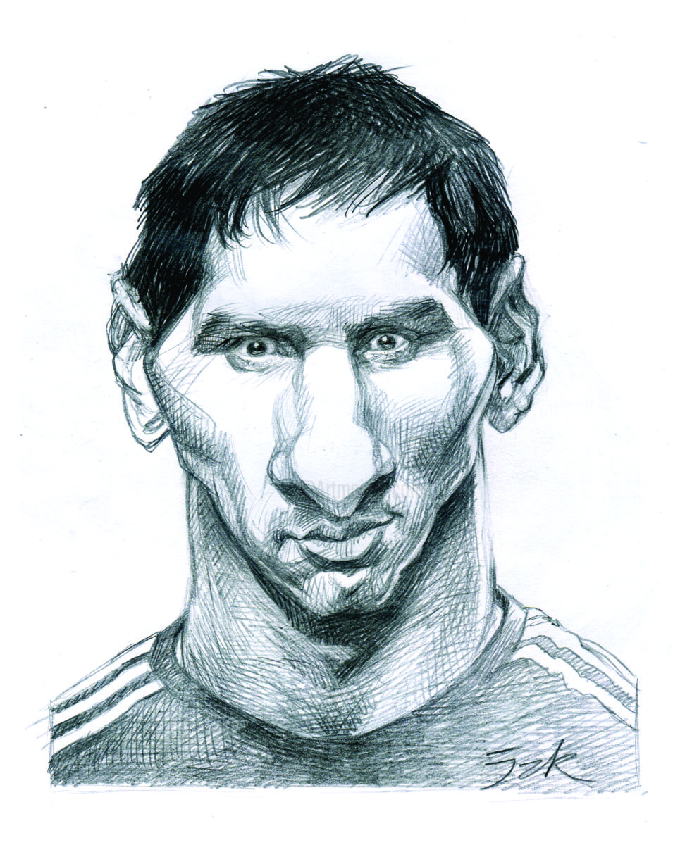 Messi Drawing At GetDrawings