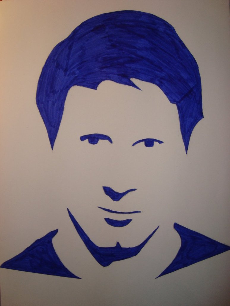 774x1032 Lionel Messi Silhouette Portrait By Only1tosse Drawing