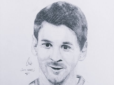 480x360 Speed Drawing Of Messi ,time Lapse Portrait Drawing