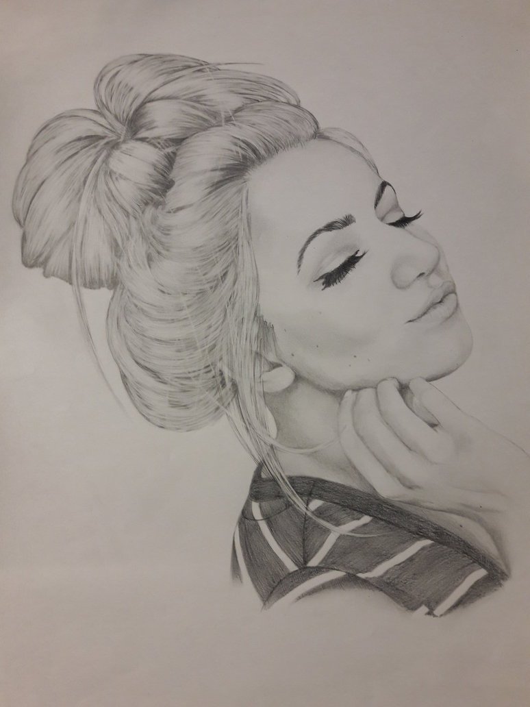 messy bun drawing at getdrawings com free for personal use messy