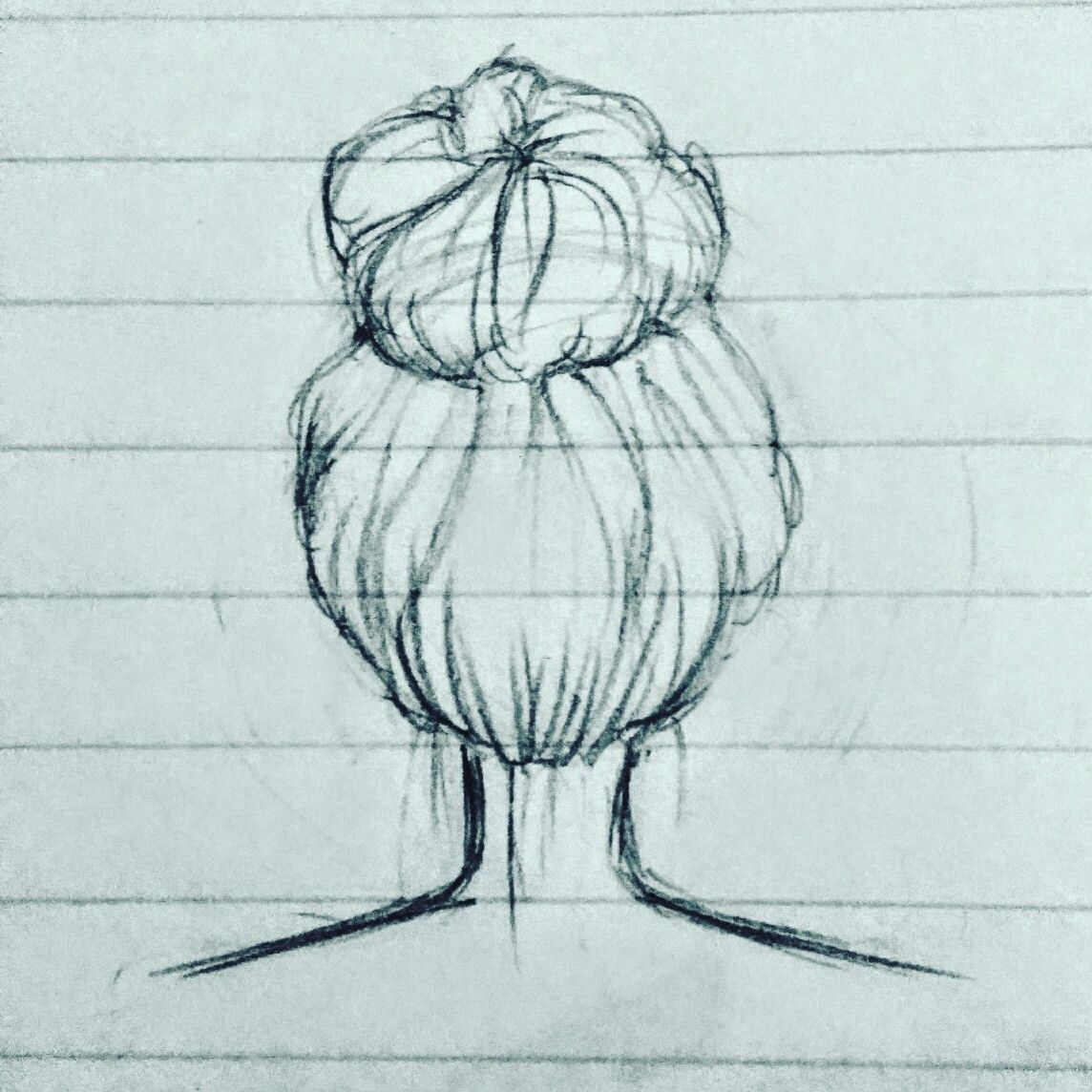 1144x1144 Messy Bun Drawing Draw Messy Buns, Drawings