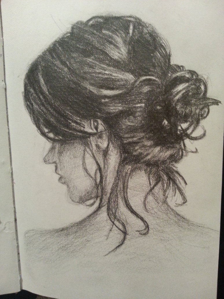 774x1032 My Drawing Of A Messy Bun By Kimberlyycious