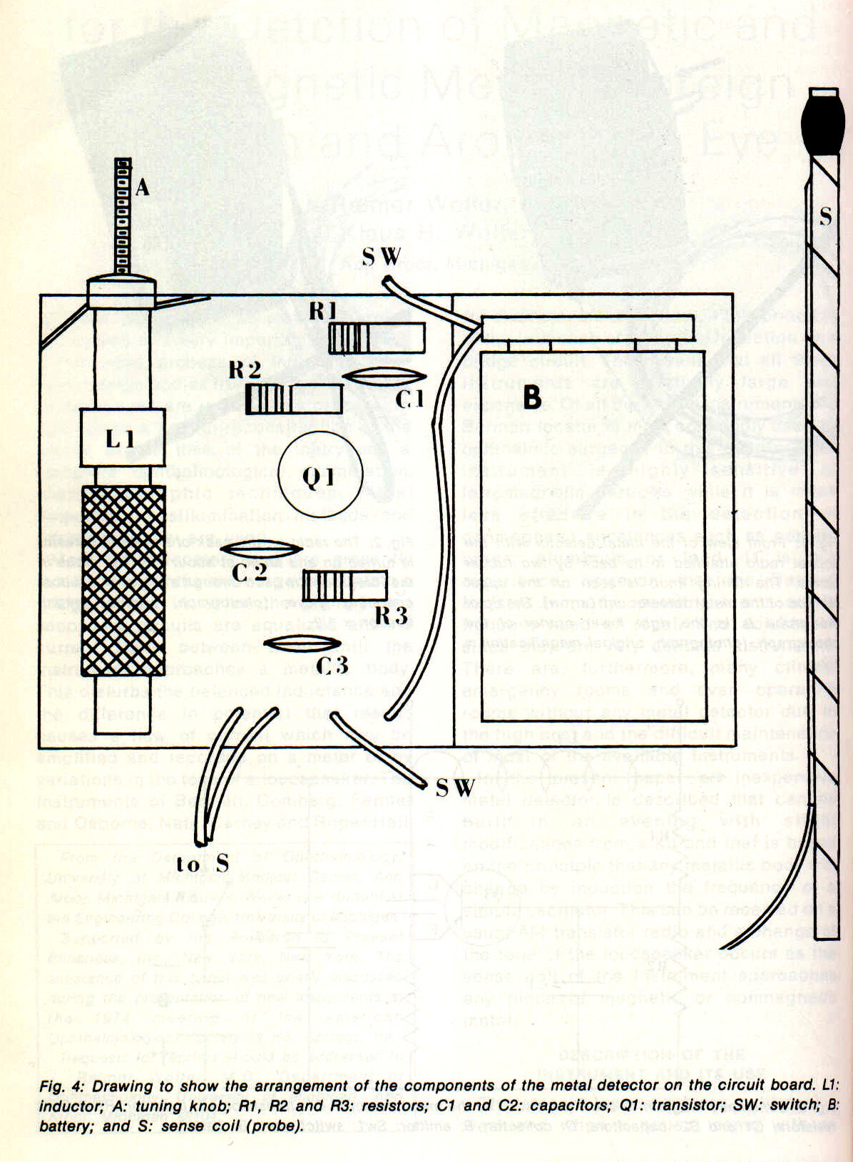 metal detector drawing at getdrawings com free for personal use rh getdrawings com White's Metal Detector Schematics 1980 Aa4161 Metal Detector Kit Parts List