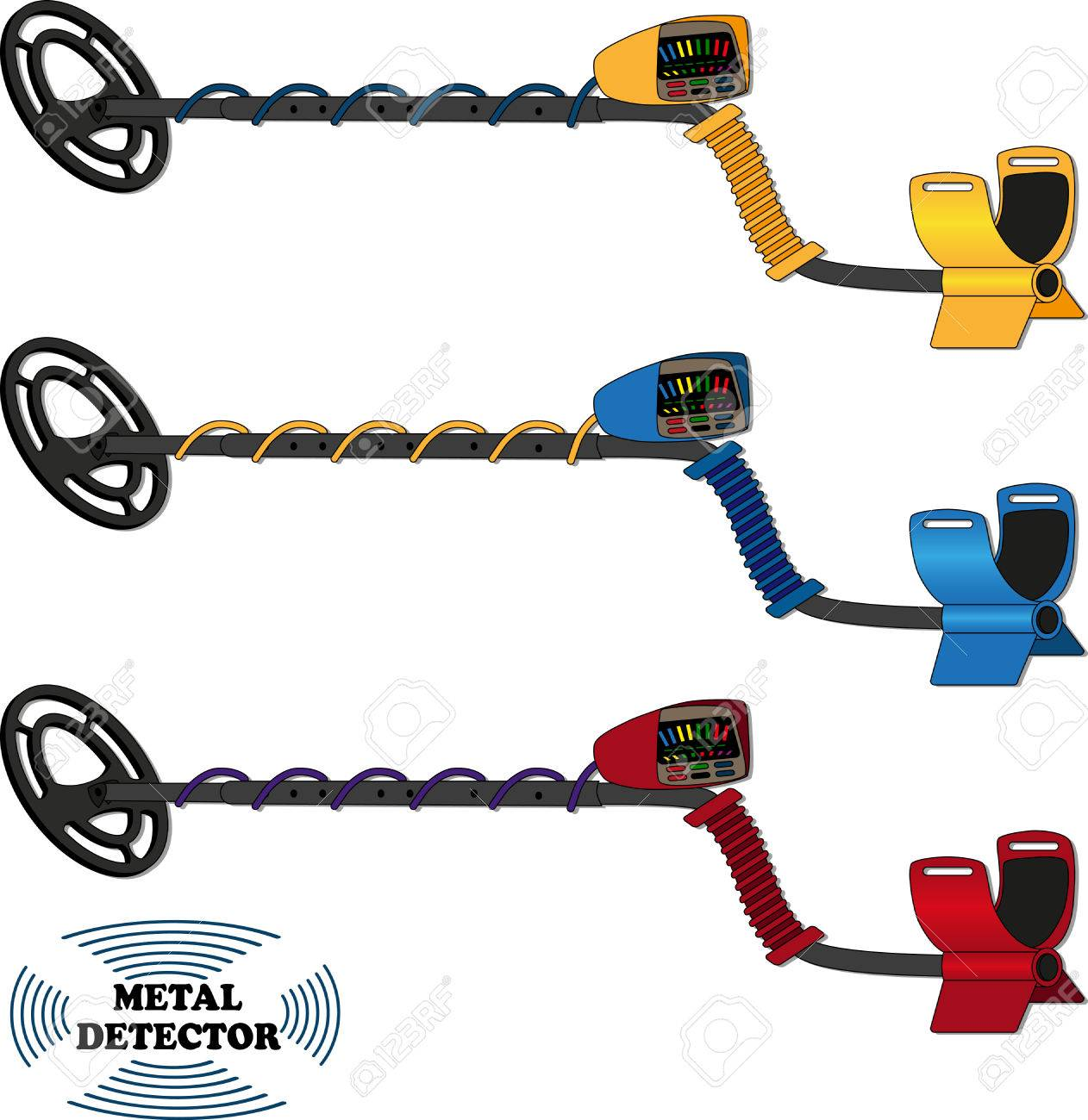 Metal Detector Drawing At Free For Personal Use Bfo Detectors Circuit Diagram Electronic Circuits 1262x1300 Vector Of The On A White Background Royalty