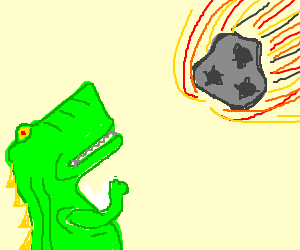 300x250 Dinosaur Punching The Meteorite