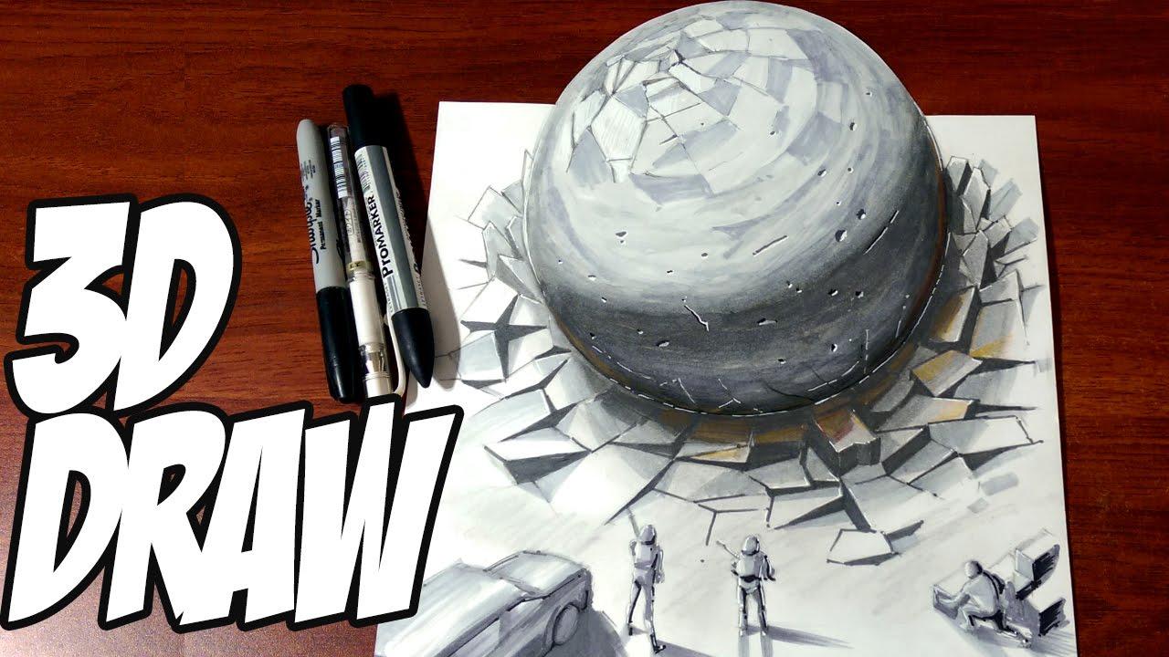 1280x720 Drawing A 3d Spherical Meteorite