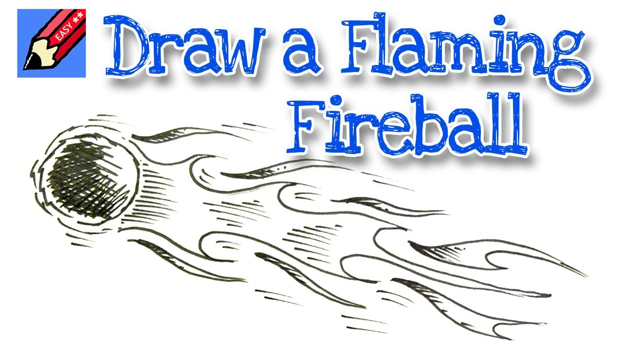 1280x720 How To Draw A Flaming Fireball Meteor Real Easy For Kids