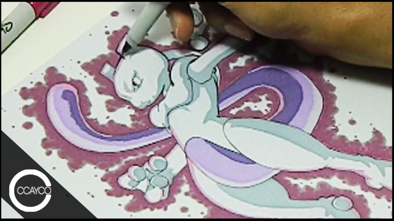 1280x720 Drawing Mewtwo (Pokemon) Playmat