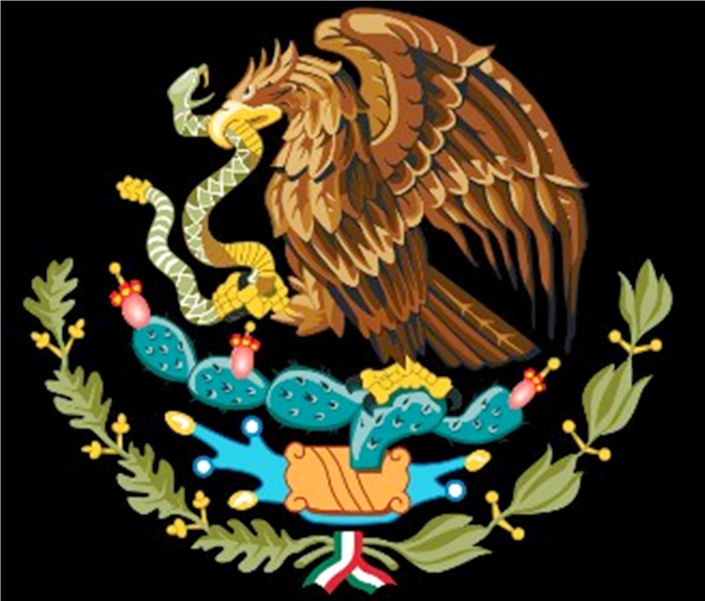 mexican flag eagle drawing at getdrawings com free for personal
