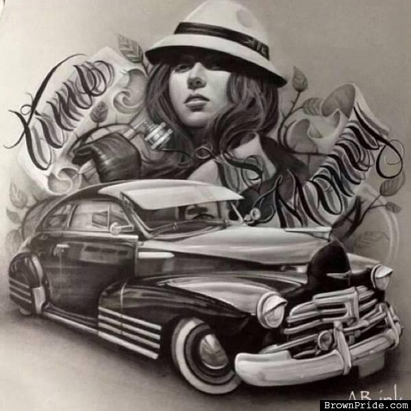 600x600 Lowrider Bomb Chicano Mexican Style Art En Recuerdo De Chuy