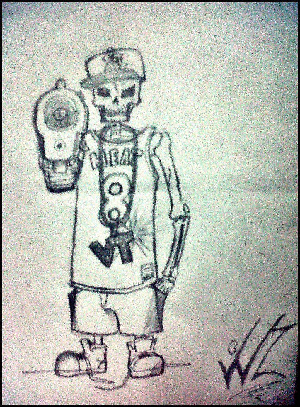 1024x1388 Gansta Skulls Gangsta Skull Tattoo By Kros22 Skulls And Bones