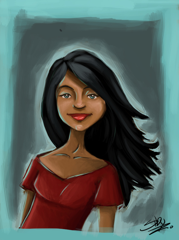 594x795 Mexican Girl By Siby26