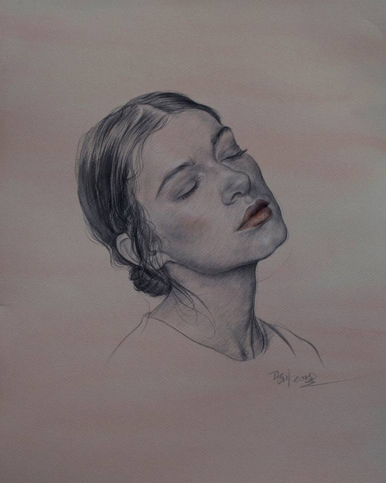 770x963 Saatchi Art Portrait Of A Mexican Girl Drawing By William Wu