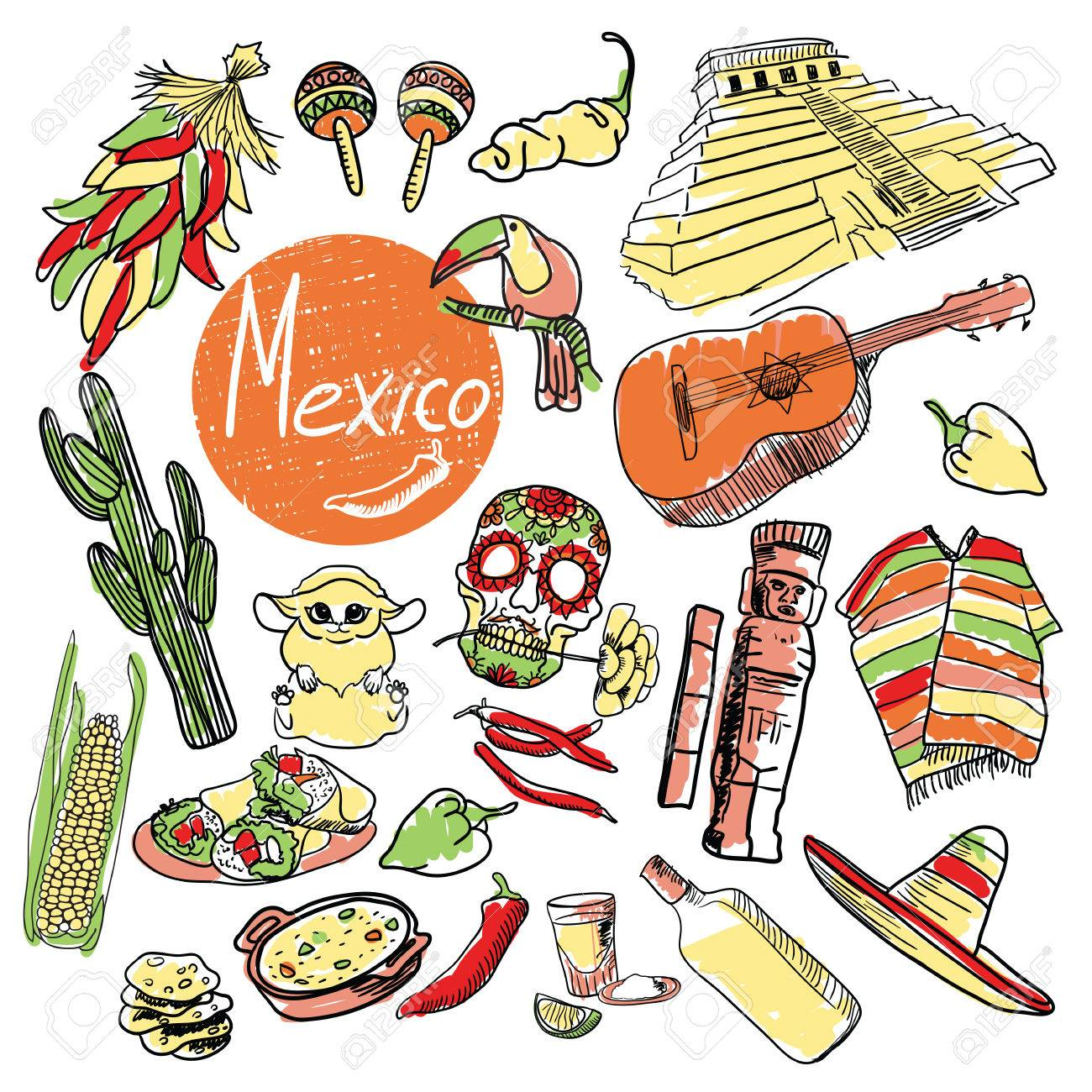 1300x1300 Cactus, Tequila, Sombreros And Other. Mexico Tourist Attractions