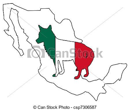 450x380 Coyote Mexico Vectors Illustration