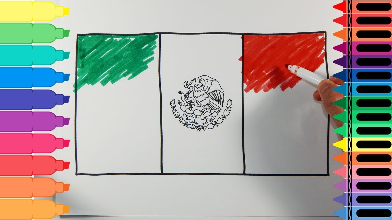 1280x720 How To Draw Mexico Flag