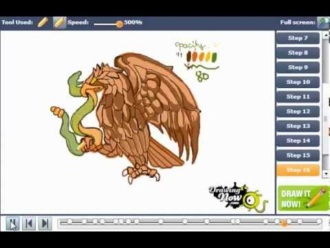 480x360 How To Draw The Eagle From The Mexican Flag