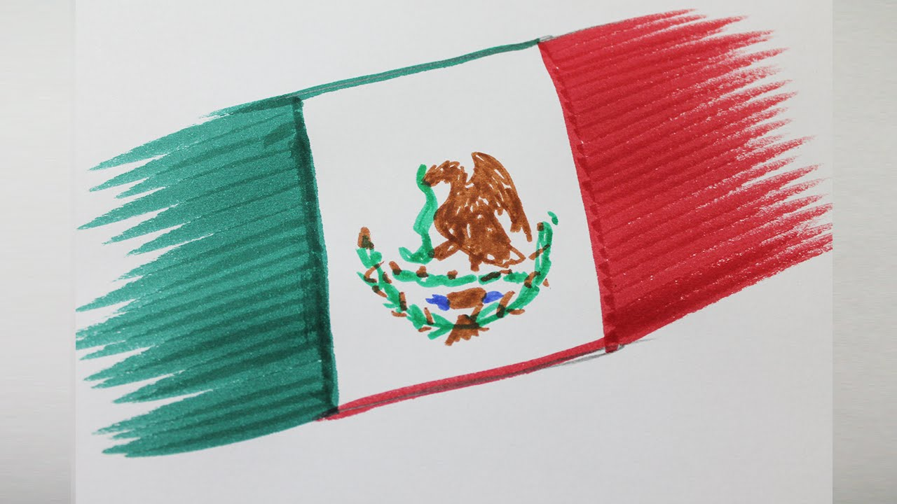 1280x720 How To Draw The Flag Of Mexico