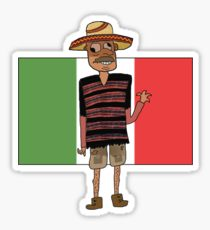 210x230 Mexican Flag Drawing Stickers Redbubble