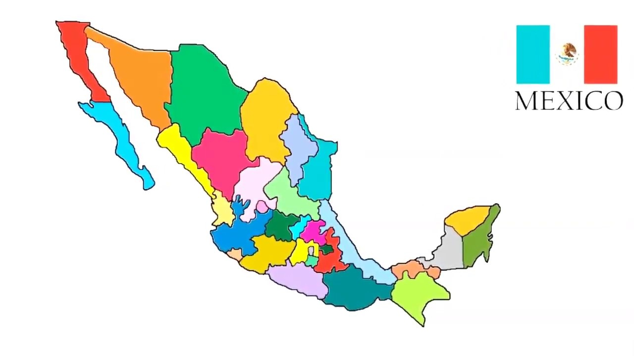 1280x720 how to draw map of mexico mexico map