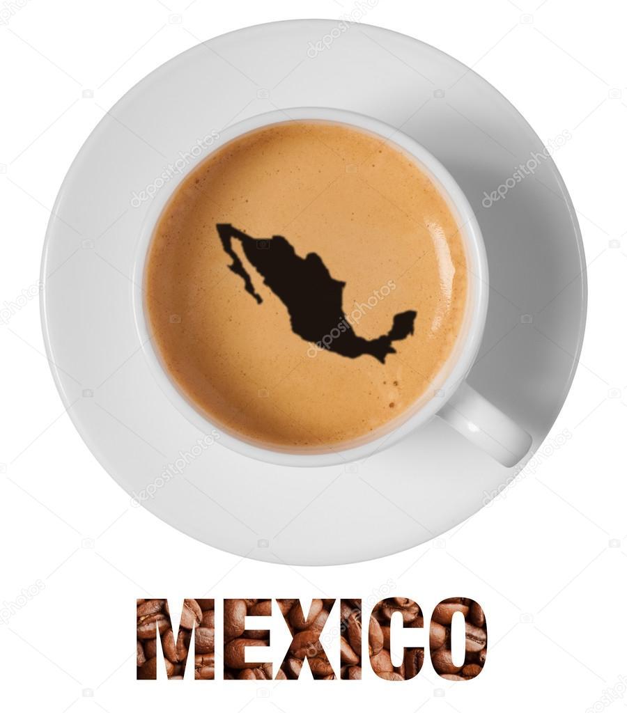 900x1024 Mexico Map Drawing Art On Coffee Stock Photo Drummatra