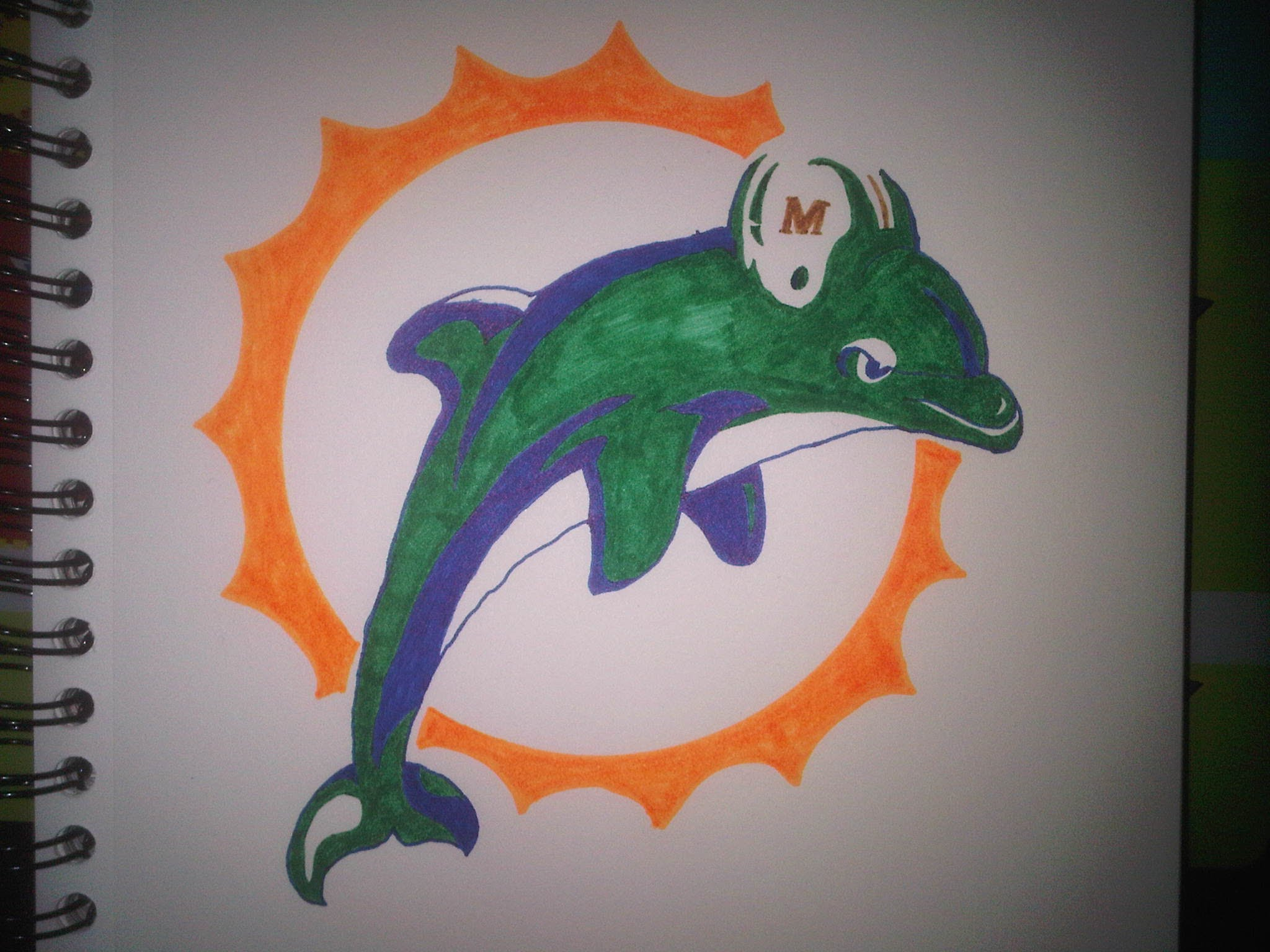 2048x1536 How To Draw The Miami Dolphins Logo (1997 2012)