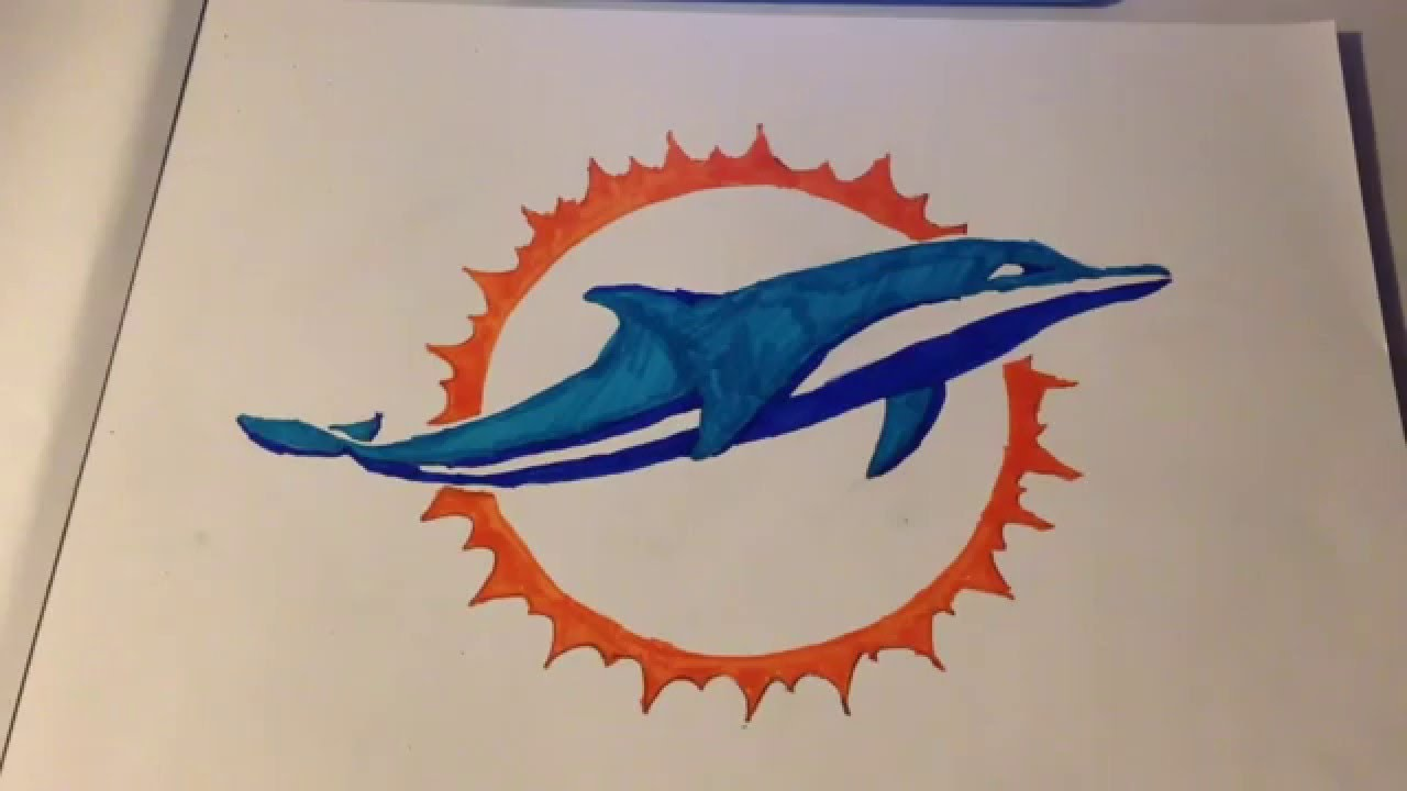 1280x720 How To Draw The Miami Dolphins Logo