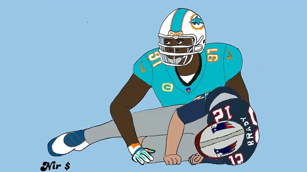 1280x720 Miami Dolphins Cameron Wake Drawing Speed Art