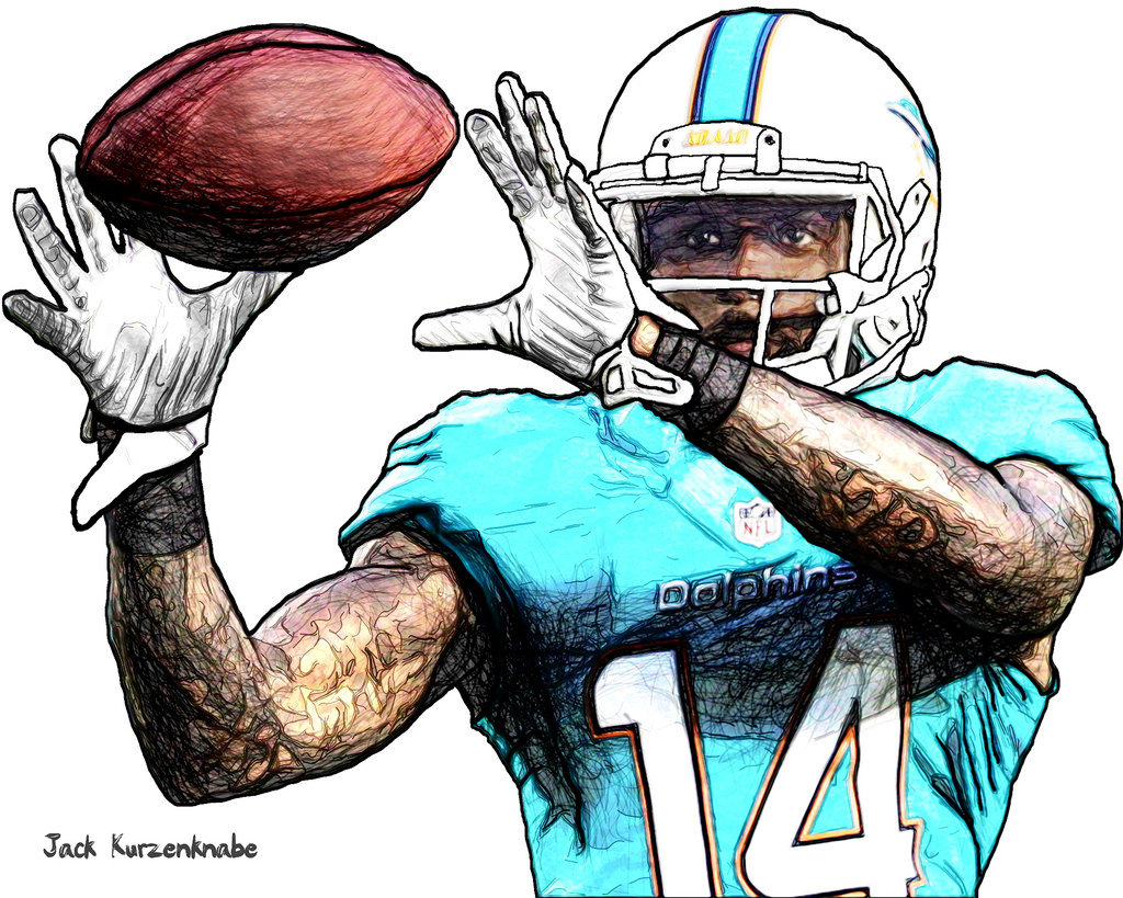 1024x819 Miami Dolphins Javis Landry View All My Nfl Drawings By