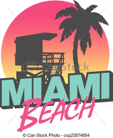385x470 Colorful Symbol Of Miami Beach With The Famous House