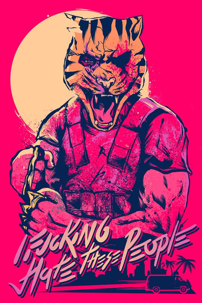 667x1000 Hotline Miami 2 The Wrong Number Art Miami, Number