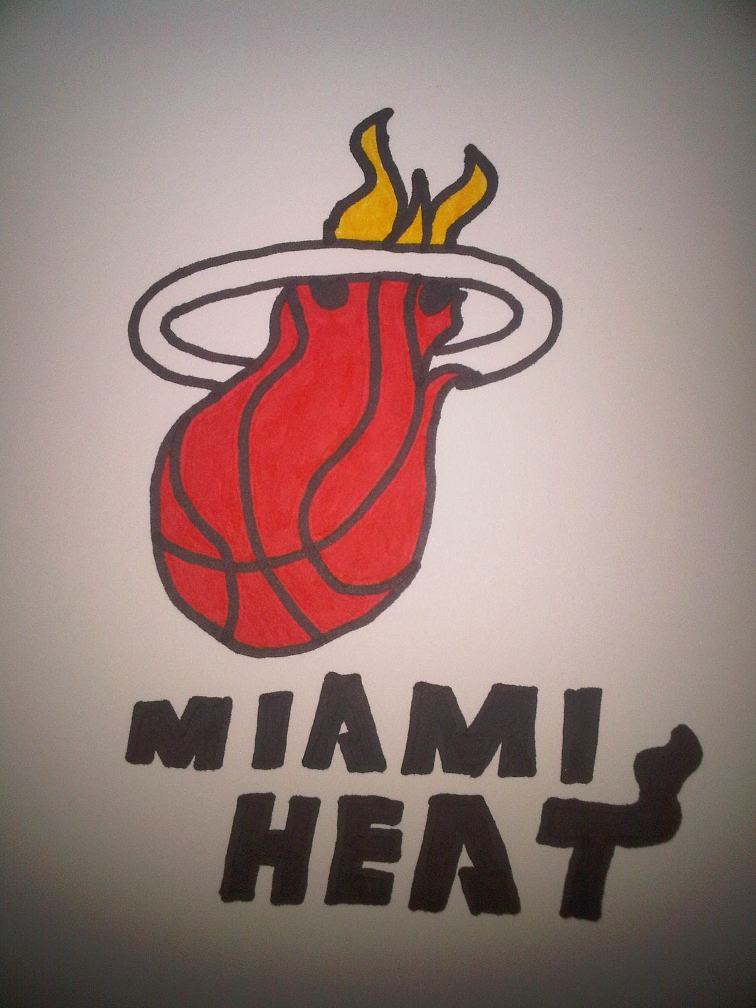 Miami heat logo drawing at getdrawings free for personal use 1536x2048 how to draw the miami heat logo voltagebd Images