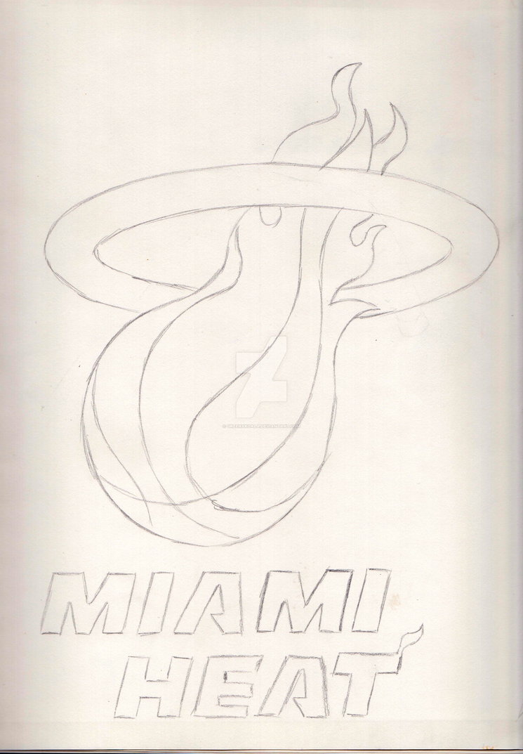745x1073 Miami Heat Logo By Greenxkoala
