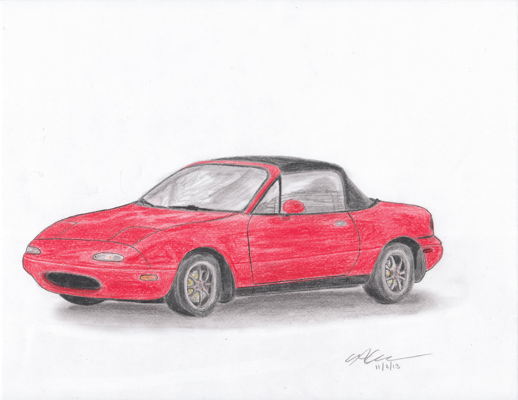 Miata Drawing At Free For Personal Use 1991 Fuse Box 1017x786 Mazda Mx 5 By Snoopy9972