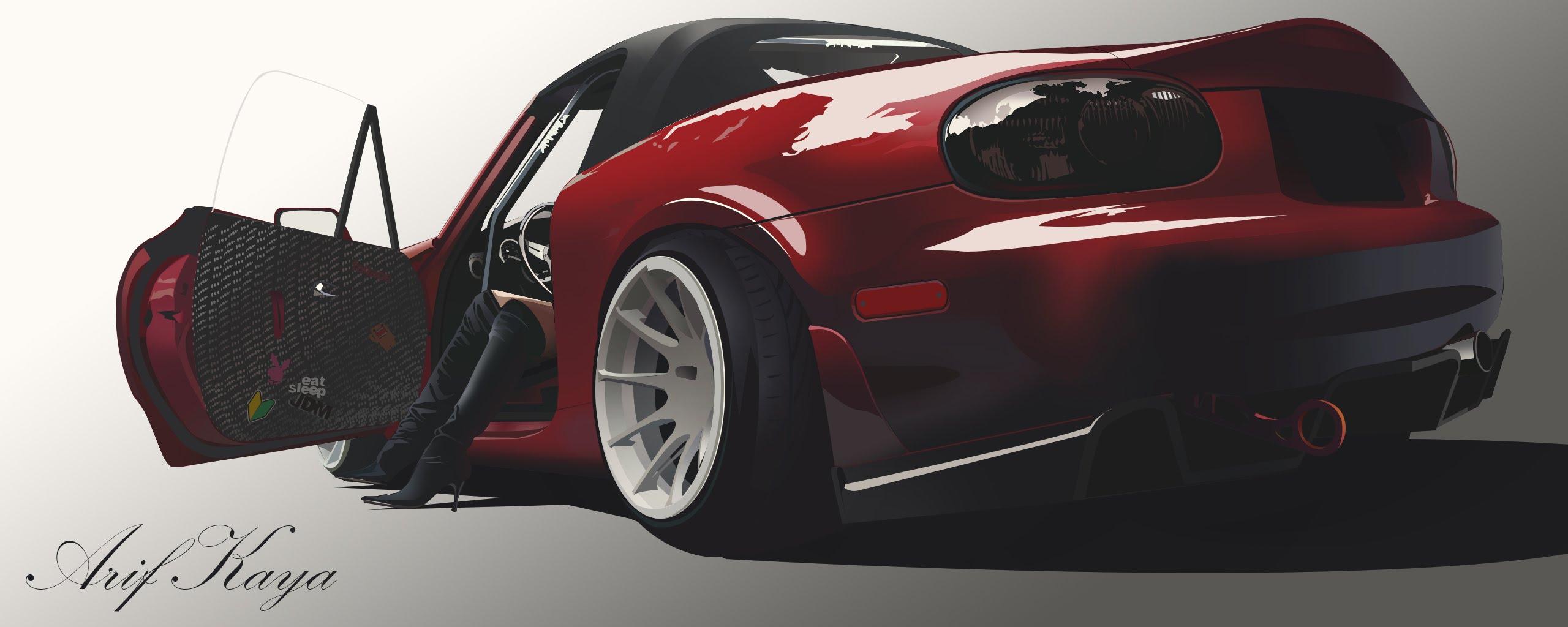 Miata Drawing At Free For Personal Use 2oo1 Mx 5 Mazda Fuse Box 2560x1024 Photoshop Mx5