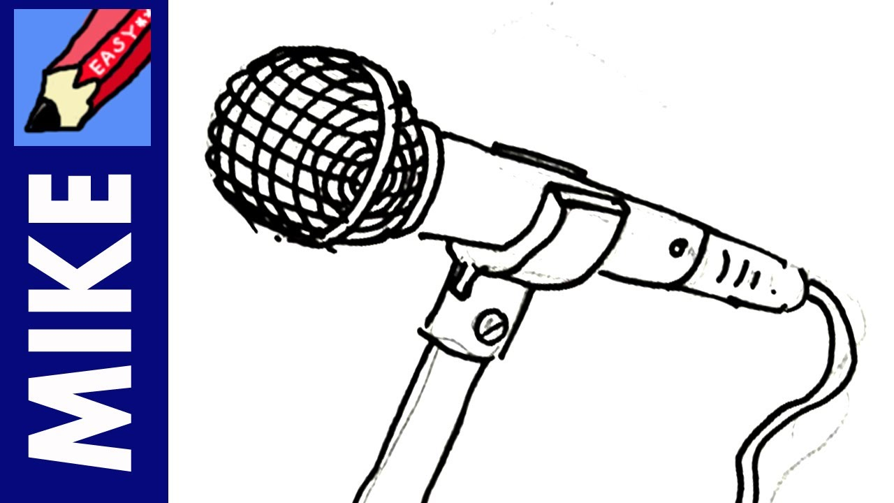 1280x720 How To Draw A Microphone Real Easy