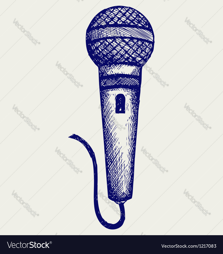 949x1080 Microphone Graffiti Drawing Sketch Microphone Royalty Free Vector