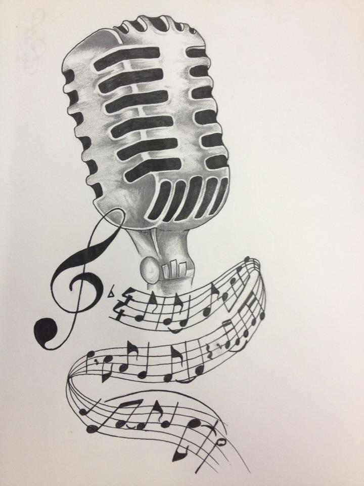 720x960 Microphone Drawing