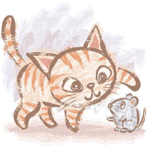480x480 Cat And Mouse By Toru Sanogawa, Via Behance Cats