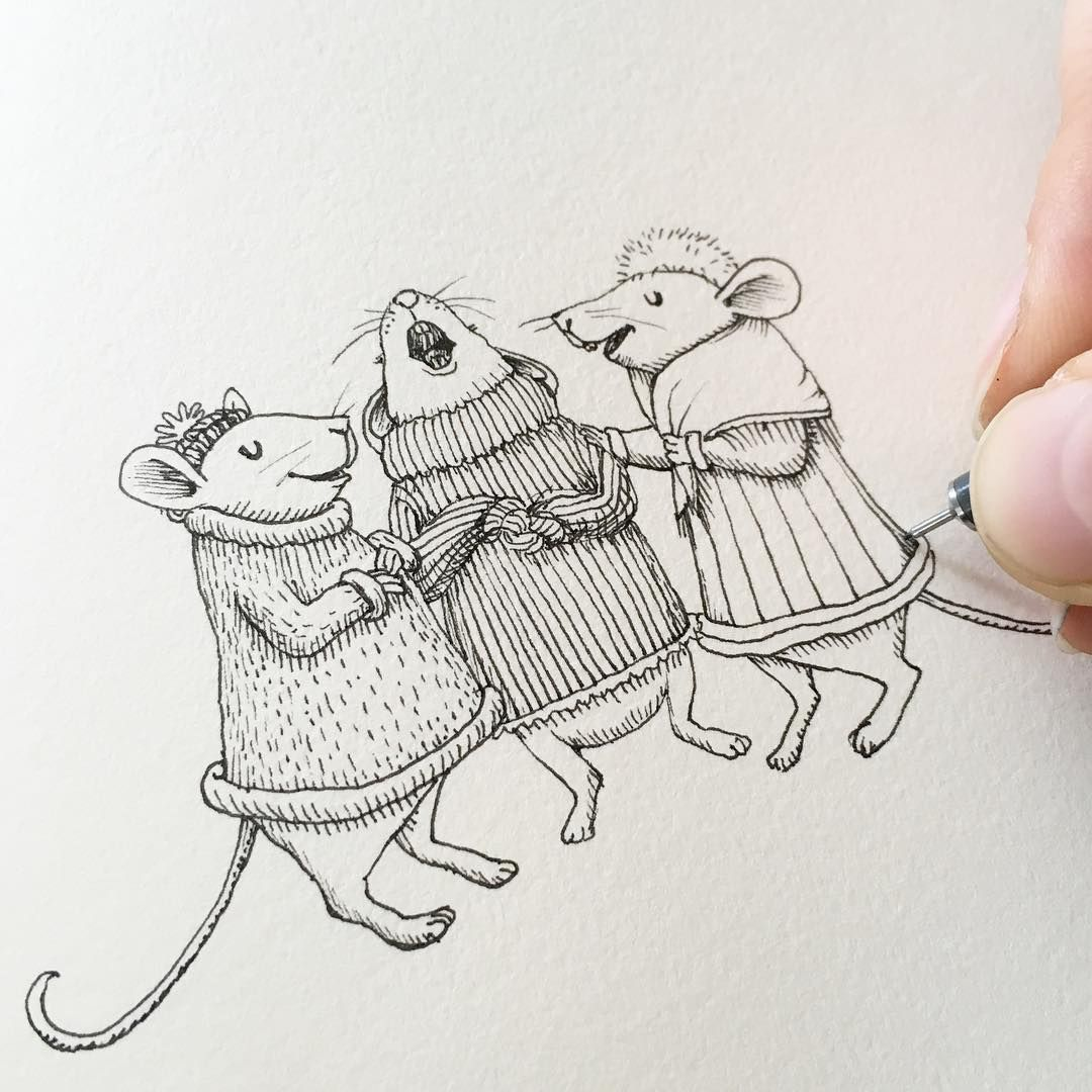 1080x1080 Drawing Tiny Singing Mice Today For No Particular Reason
