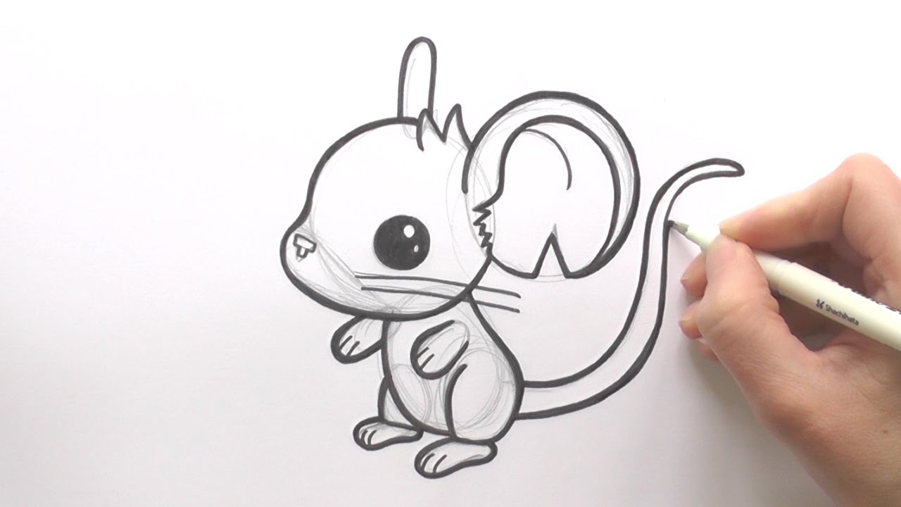 1280x720 How To Draw A Cartoon Mouse From Transformice