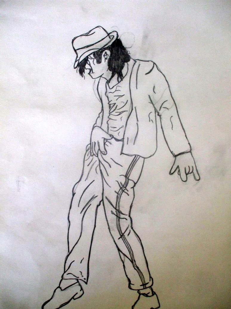 Michael jackson dancing drawing at free for Michael jackson billie jean coloring pages