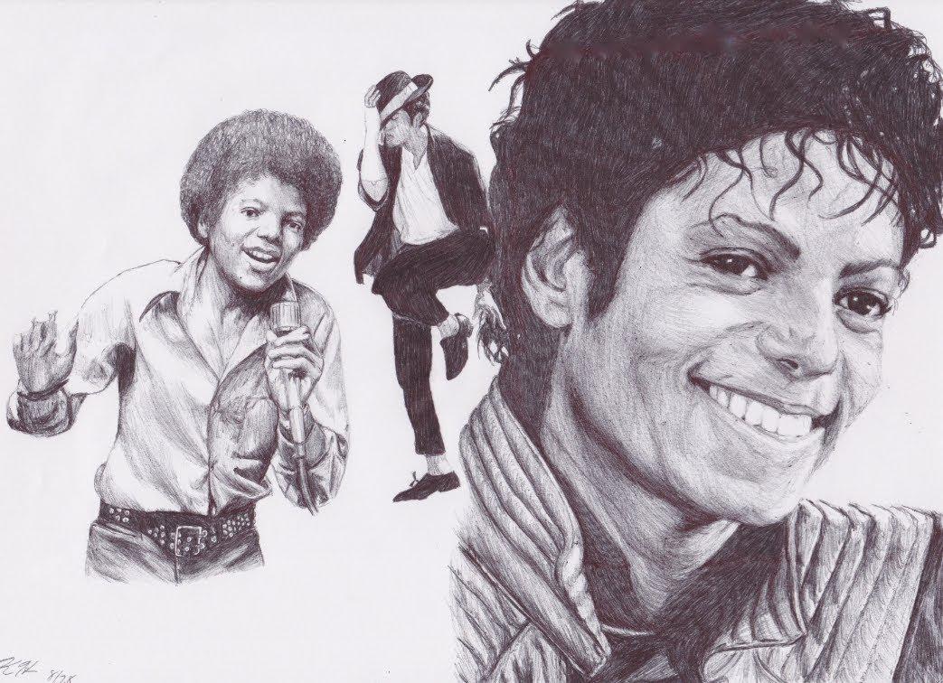 1043x756 Michael Jackson Drawing